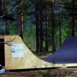 Skateboardramp som nu står vid Vemvalla i Vemdalen